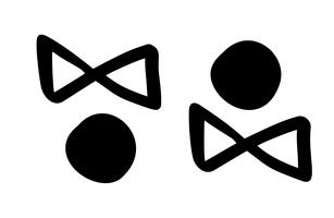 Männliche und weibliche Ikonenbürstenlinie für Netz und bewegliches, modernes minimalistisches flaches Design. Vektorillustrationsikone lokalisiert auf weißem Hintergrund