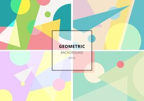 Set of trendy geometric elements retro style texture pattern. Modern abstract design poster, cover, card, invitation, brochure, etc. vector