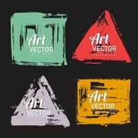 set of watercolor brush shape banner vector