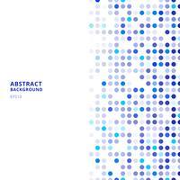 Kreativa designmallar abstrakt blå slumpmässiga prickar på vit bakgrund.