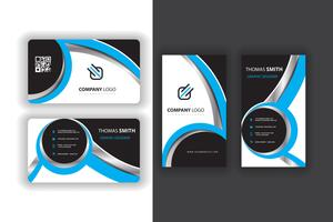 blue set of business cards