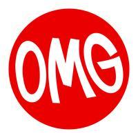 OMG vector lettering