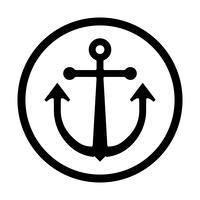 Icono de vector de anclaje