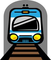 Subway Train Light Rail Car vector icon