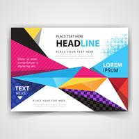 modern colorful abstract leaflet