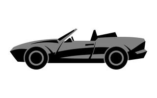 Auto sportiva convertibile stilizzata