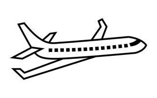 Avion volant Vector Icon