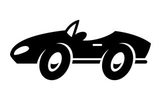 Stylized Convertible Sports Car