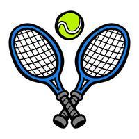 Tennisracket en tennisbal