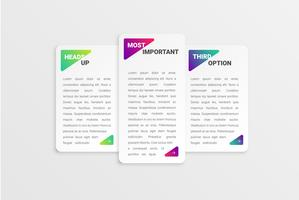 Colorful card template for web usage, vector illustration