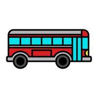 Stadsbus Transit voertuig vector pictogram