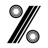 Icono de porcentaje de símbolo matemático, gráfico de porcentaje