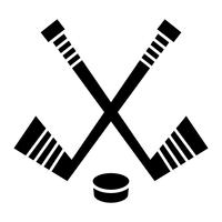 Hockey Stick & Puck vector ontwerpHockey Stick & Puck vector ontwerp