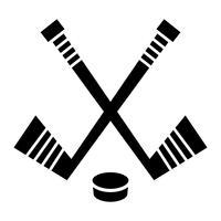 Conception de vecteur pour le bâton et la rondelle de hockeyConception de vecteur pour le bâton et la rondelle de hockey