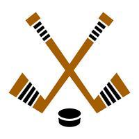 Hockeyschläger & Puck-Vektor-designHockeyschläger & Puck-Vektor-design