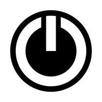 Ícone de vetor de símbolo de energia