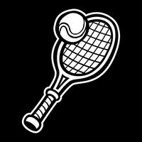 Racchetta da tennis e pallina da tennis