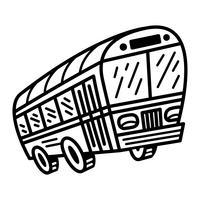 Ícone de vetor de veículo de trânsito de ônibus da cidade