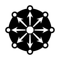 Netzwerk Diagramm Vektor Icon