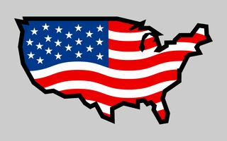 America country flag vector icon