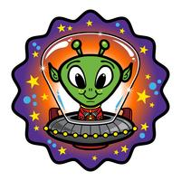 Alien head vector illustration
