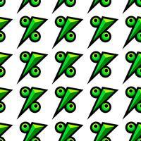 Icône mathématique du symbole de pourcentage, graphique de pourcentage vecteur