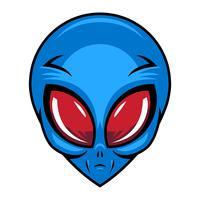 Illustration vectorielle tête extraterrestre