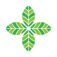 Green leaf vector icon