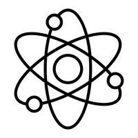 Dynamische Atoom molecuul wetenschap symbool vector pictogram