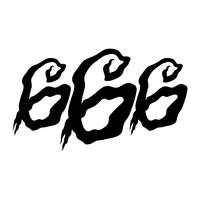 666 Graphic Lettering vector
