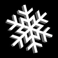 snöflinga vektorikonen