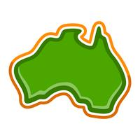 Australia Map Geography Shape vector icon