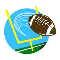 American Football vector pictogram