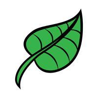Icona di vettore di foglia verde