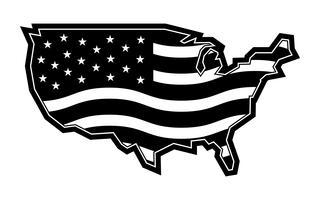 Icono de vector de bandera de país de América
