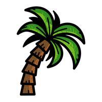 Ícone de vetor de palmeira