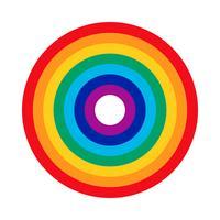 Icona di vettore di arcobaleno
