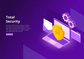 Cyber Security Interface Template Vector