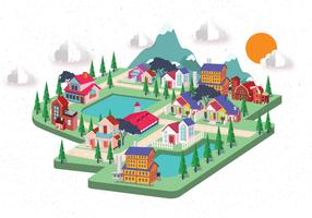 Isometric House Illustrations Vector