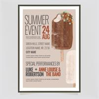 Vector Summer Ice Cream Poster Template