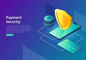 Cyber Security Payment Interface Template Vector