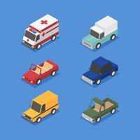 Isometrisk transport Clip Art Set
