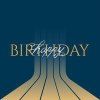 Gelukkige verjaardag Klassieke typografie