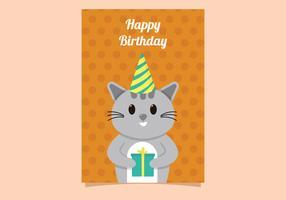 Regalo de cumpleaños lindo del gato