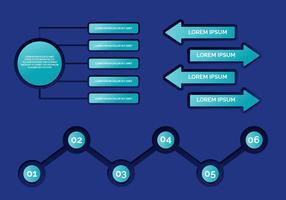 Vettore di elementi 3d infografica
