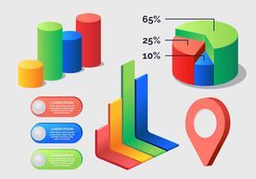 3D Infographic elementen vectorillustratie