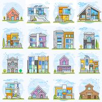 Houses.  vector