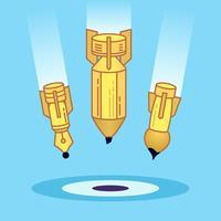 Kunst creatieve ontwikkeling pictogram illustratie.