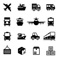 Shipping logistics deliver icons