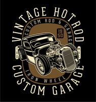 vintage hotrods vector